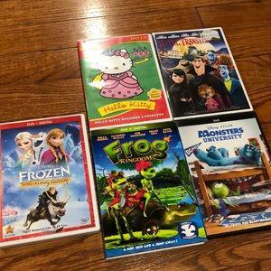 Other - Four DVD Bundle (Minus Frozen DVD)